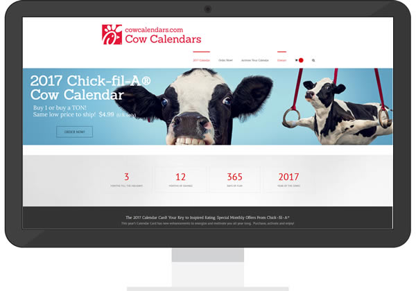 Chick-fil-A Cow Calendars